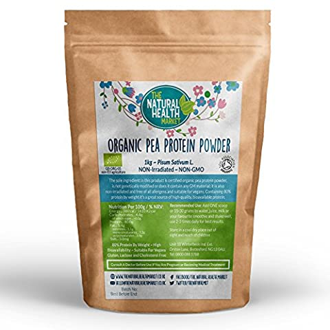Organic Pea Protein Powder 1kg By The Natural Health Market