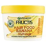 Garnier Fructis Hair Food Banana Maschera Nutriente 3 in 1 con Formula Vegana per Capelli Secchi, 390 ml