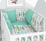 Tour de lit - Six coussins en velours pour lit bébé 70 x 140 cm