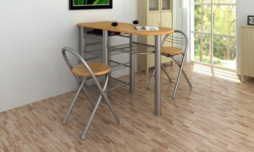 Cocina/ Bar de desayuno / Set de mesa y sillas Madera