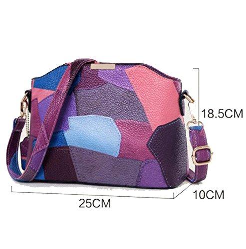 Europa Und Die Vereinigten Staaten Neue Handtasche Tasche Schräge Schultertasche Purple