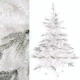 MACOShopde by MACO Möbel Weißer künstlicher Weihnachtsbaum - verschneit/Schnee - Tannenbaum 180cm PE Spritzguss/PVC Mix 999 Spitzen