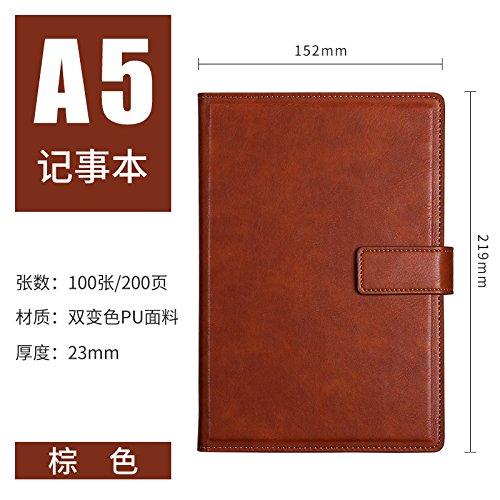 WRITIME Notizbuch A5 braun Business Notebook Schreibwaren Notebook Tagebuch Bürobedarf Arbeit verdickt Notepad benutzerdefinierte Notebook