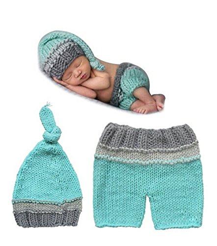 grafie Prop Baby Junge Kostüm cool grün Stricken Handarbeit (Cool Baby Kostüm)