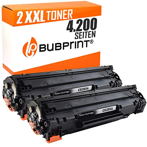Bubprint 2 Toner kompatibel für HP CE285A 85A CE285X für Laserjet Pro M1100 M1132 M1136 M1200 M1212NF M1217NFW MFP P1102W P1108 P1109W Schwarz 2.100 S (Drucker M1212nf Hp)