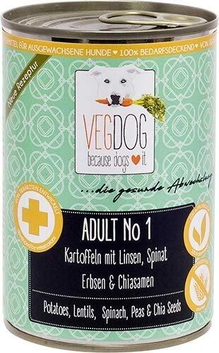 VEGDOG Vegetarisches Hunde Alleinfutter Adult No 1, 6er...