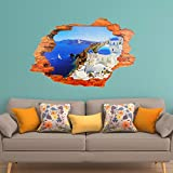 WALPLUS 3D View Art Decals Home Santorini Griechenland