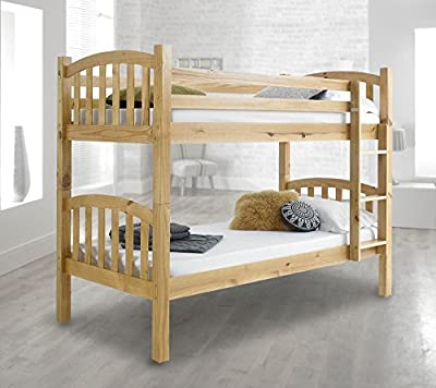 Happy Beds American Solid Wooden Bunk Bed Frame Bedroom Home Sleep