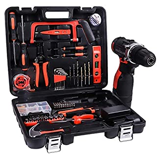 LETTON Power Tools Combo Kit with 16.8V Cordless Drill for 60 Accessories Home Cordless Repair Combo Kit Tool Set