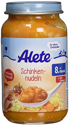 Alete Schinken Nudeln, 6er Pack (6 x 220 g)