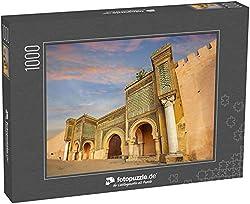 Puzzle 1000 Teile Altes Tor und Mauern von BAB EL-Mansour in Meknes. Marokko, Nordafrika - Klassische Puzzle, 1000/200/2000 Teile, in Edler Motiv-Schachtel, Fotopuzzle-Kollektion 'Marokko'