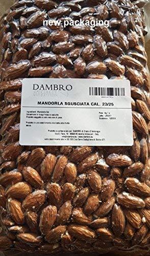 Mandorle Sgusciate Cal. 27/30 - Confezione Sottovuoto - 1 kg