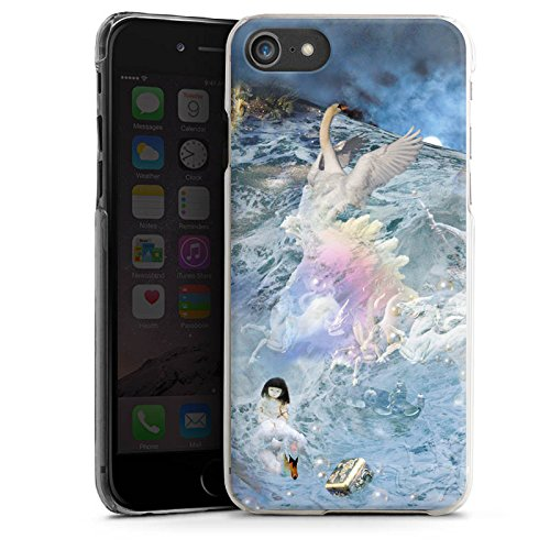 Apple iPhone X Silikon Hülle Case Schutzhülle Schwan Collage Kunst Hard Case transparent
