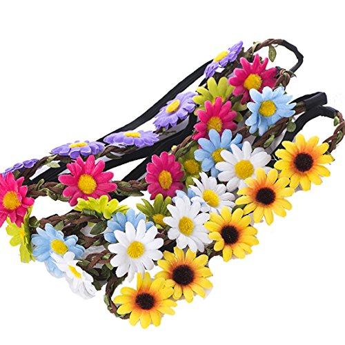 9 Pieces Flower Headband Garland...