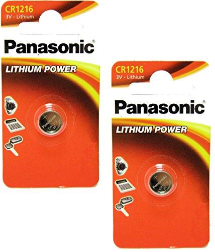 Panasonic CR1620 Lot de 2 piles bouton au lithium 3 V