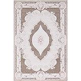 Carpet 1001 Hochwertiger Moderner Designer Wohnzimmer Teppich Alpina 5210 Braun - 80x150 cm