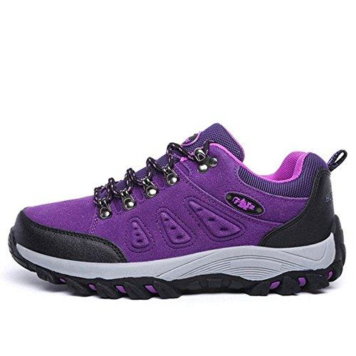 TAOFFEN Stivali Hiking Unisex Adulto Casual Scarpe Sportive Women Purple