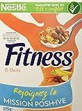 Nestlé Fitness & Fruits - Céréales du Petit Déjeuner - Paquet de 375 g