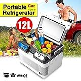 Ldbx Camping Kühlschrank Auto Kühlbox Mit Kühl Und Warmhaltefunktion 12L Zum Warmhalten Und Kühlen Thermo-Elektrische Kühlbox 12 Volt Und 220 Volt