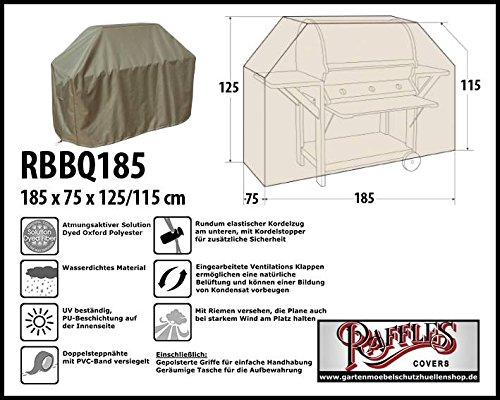 Raffles Covers RBBQ185 BBQ Schutzhaube Grill Schutzhülle,Abdeckplane,Grillabdeckung Wetterschutzhülle für Grill, Abdeckplane BBQ