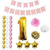 Set Palloncini 1° Compleanno da Belle Vous   Questo set di palloncini per compleanno trasformeranno una normale festa di compleanno in quella del secolo; con ben 32 pezzi potrai essere sicuro di organizzare l'evento più memorabile dell'anno!...