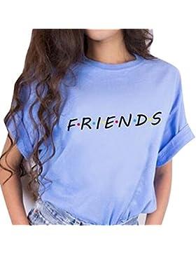 Yying Manga Corta Blusa Para Mujer Verano Primavera Casual Camiseta Moda Carta Impresa Loose Fit Camisetas Camisas...