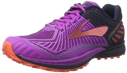 brooks Mazama, Zapatos para Correr para Mujer, Multicolor (Purplecactusflower/Peacoat/Hotcoral), 38.5 EU