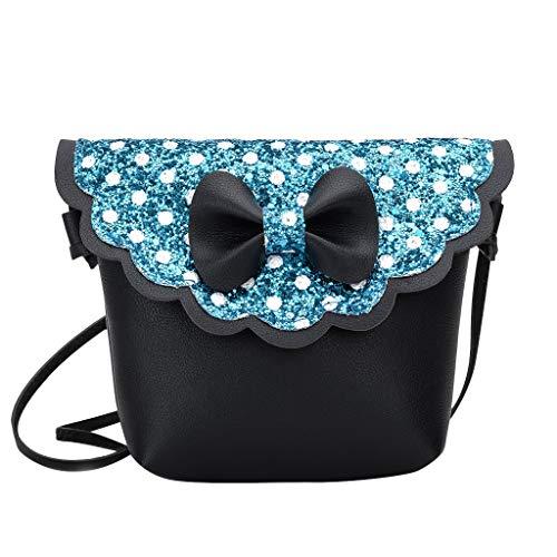 Mitlfuny handbemalte Ledertasche, Schultertasche, Geschenk, Handgefertigte Tasche,Kinder Mädchen Mode Bling Bowknot Persönlichkeit Kleine Tasche Umhängetasche