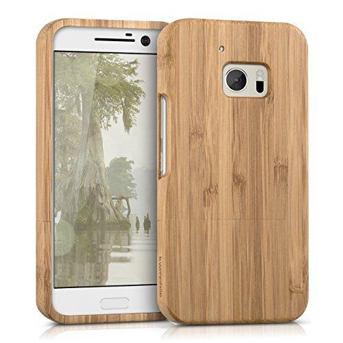 kwmobile HTC 10 Hülle - Handy Bambus Schutzhülle - Cover Case Handyhülle für HTC 10