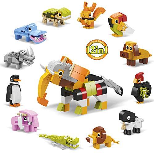 ADDG 12 Einheits-Bausdeminen Kinder, die kleine granulare Bausteine zusammenstellen, Puzzleteien