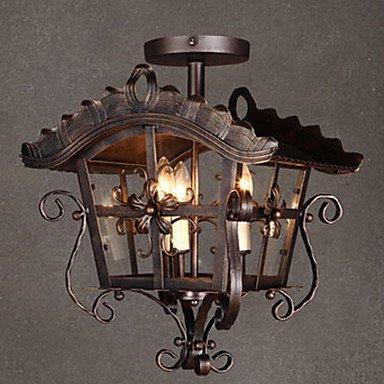 kai Deckenleuchte, 3-flammig, Metall, Modeschmuck, Antik-Stil, Design (Modeschmuck Stil Antik)