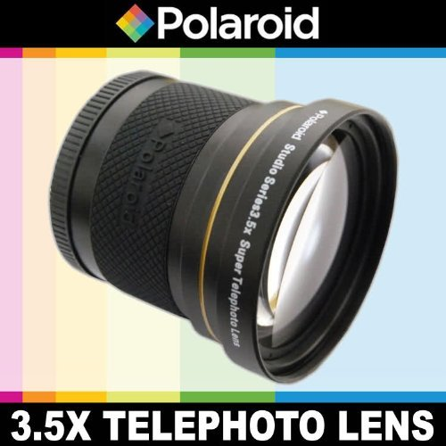 Polaroid Studio Series 3.5X HD Super Telephoto Lens Includes Lens Pouch and Cap Covers For The Canon EOS-M Mirrorless Camera Which Has The (18-55mm) Canon EF-M Lens  available at amazon for Rs.10303