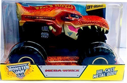 2015 Hot Wheels Monster Jam 1:24 Scale Mega-Wrex Monster Truck by Mattel