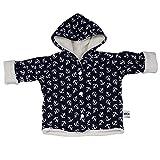 Sharlene Navy Anker Baby Jacke Winterjacke Baby Mädchen Kleidung Fleecejacke Plüsch Winter Mitwachsgrößen Größe 50-68 und 74-92 (50-68)