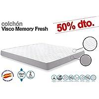 SUENOSZZZ - Colchón Viscoelástico Memory Fresh. 90x180x15+1 Cms. Strech ...