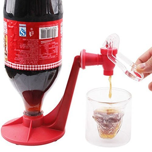 WONDEFUL Drink Saver Spender linkspe Home Bar Coke Sprudelnde Soda Weich Trinken Wasserhahn Rot Creative (Kühlschrank-drink-dispenser)