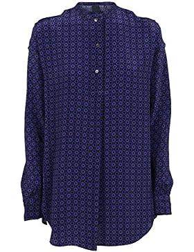 Aspesi Camicia Donna 1005425F28572032 Seta Blu