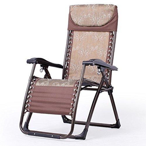 QIDI Chaise Longue Pliable Simple Métal 74 * 74 * 80cm (Couleur : Style 1)