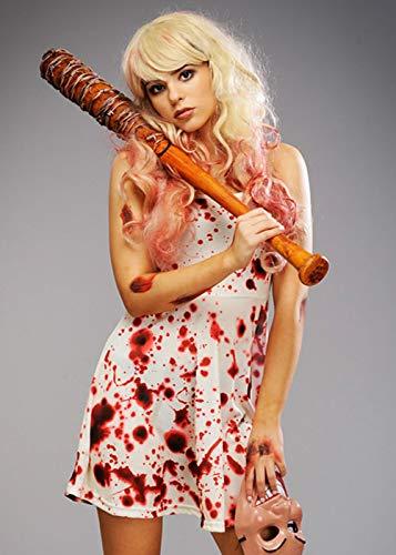 Purge Kostüm Kleid - Magic Box Int. Womens Halloween The Purge Style Blutiges Kleid