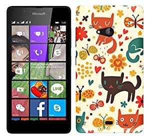 WOW 3D Printed Designer Mobile Case Back Cover For Microsoft Lumia 540 / Nokia Lumia 540