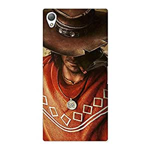 Stylish Cowboy Multicolor Back Case Cover for Sony Xperia Z3