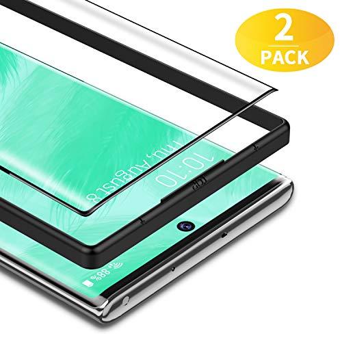 BANNIO Verre Trempé pour Samsung Galaxy Note 10 Plus/Note 10+/5G,2 Pièces 3D Couverture Complète Film Protection écran,HD Dureté 9H Vitre Protecteur pour Samsung Galaxy Note 10 Plus/Note 10+/5G,Noir