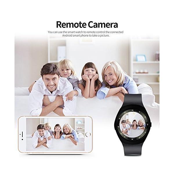 Fitness Tracker,Gearlifee IP68 Waterproof Reloj pulsera con monitor de ritmo cardíaco, presión arterial, oxígeno en la sangre, monitor de sueño, SMS, podómetro para iPhone Android(Banda de acero) 8