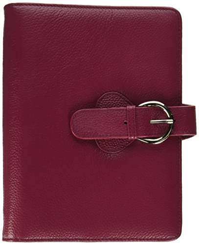 Franklin Covey Leather Ava Binder, Classic 7.5x9.5x1.2-Inches, Plum by Franklin Covey