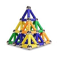 PlayMaty Bloques magnéticos Bloques Juguetes 100 piezas Kit de construcción Juguetes Jugar ladrillos de juguete magnético