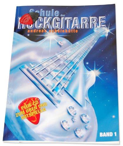 Schule der Rockgitarre Band 1(+CD) inkl. Plektrum von Musik-Schubert und herausnehmbarer Griffbrett-Übersicht - Das 100.000fach bewährte Standardwerk für Selbststudium und Unterricht (Schule der Rockgitarre) von Andreas Scheinhütte (Taschenbuch - 1998) (Noten/Sheetmusic)