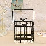 ZI LING SHOP- Hierro Pájaros redonda red de hierro colgante de la bandeja de las paredes hierros colgar la cesta, cesta de la mano, cesta Flower racks ( Color : B )