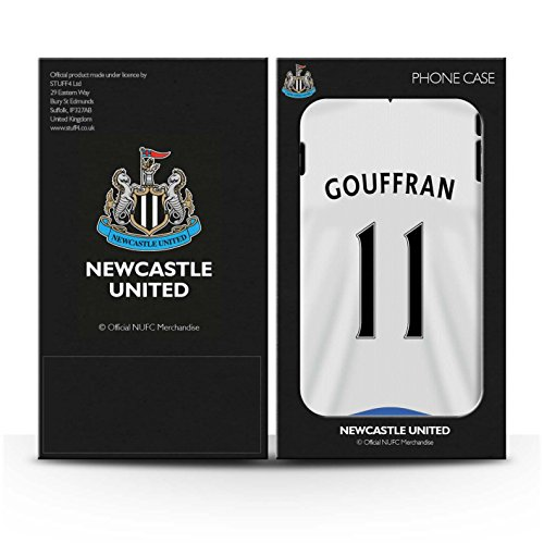 Offiziell Newcastle United FC Hülle / Glanz Harten Stoßfest Case für Apple iPhone 5/5S / Shelvey Muster / NUFC Trikot Home 15/16 Kollektion Gouffran