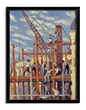 Artangle Maximilien Luce - The Scaffolding, 1910 Framed Poster