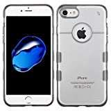 Asmyna Cell Phone Case for Apple iPhone 7 - Clear/Transparent Gray